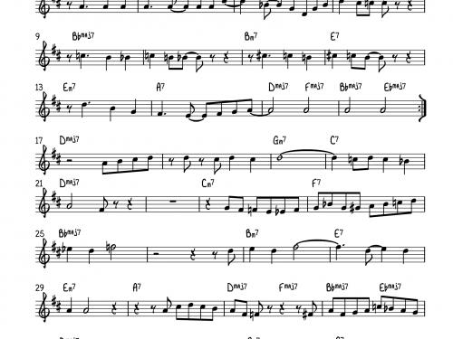 Lady Bird – Chet Baker solo (Jazz in Milan – 1959)