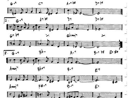 Desafinado (PDF free download C instrumets)