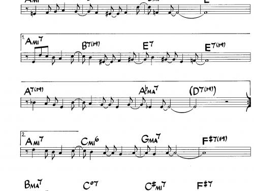 Desafinado – trumpet theme tutorial (PDF free download Bb instrumets)
