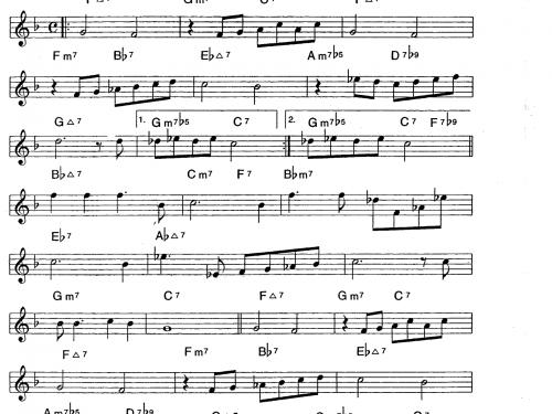 Star Eyes – trumpet theme tutorial (PDF free download Bb instrumets)