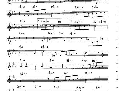 Star Eyes – trumpet theme tutorial (PDF free download C instrumets)