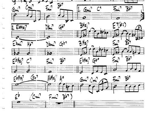 Smoke Gets in Your Eyes – trumpet theme tutorial (PDF free download C instrumets)
